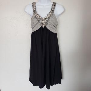 Maurices Grey Black Dress Halter Top Women's Small